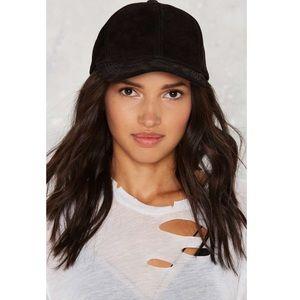 Nasty Gal You're Safe Suede Hat